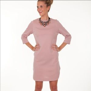 Boutique-Tracy Negoshian Jada dress/necklace Blush
